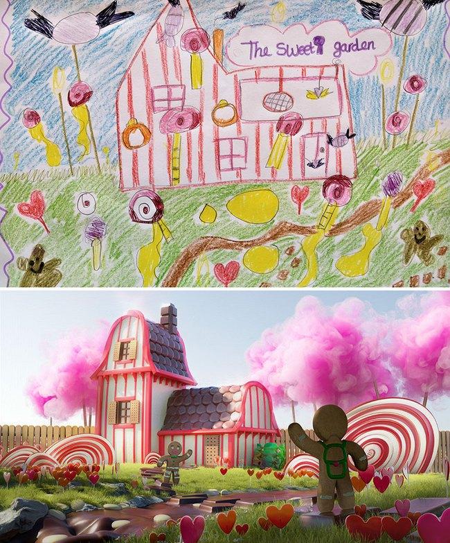 """Bước ra từ trí tưởng tượng của trẻ nhỏ, những khu vườn mơ ước được """"phù phép 3D"""" khiến ai nhìn cũng phải trầm trồ - Ảnh 1."""