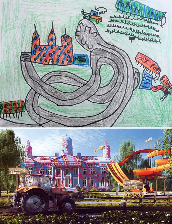 """Bước ra từ trí tưởng tượng của trẻ nhỏ, những khu vườn mơ ước được """"phù phép 3D"""" khiến ai nhìn cũng phải trầm trồ - Ảnh 4."""