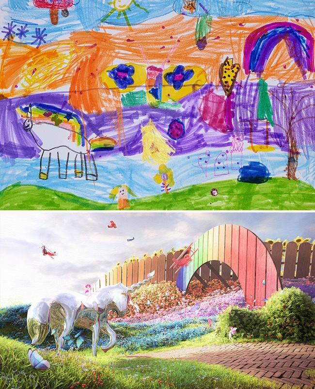 """Bước ra từ trí tưởng tượng của trẻ nhỏ, những khu vườn mơ ước được """"phù phép 3D"""" khiến ai nhìn cũng phải trầm trồ - Ảnh 7."""