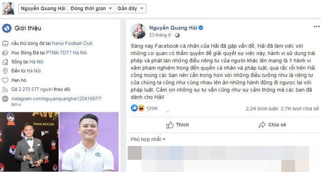 """HOT: Quang Hải bất ngờ xóa sạch ảnh chụp chung với bạn gái Huỳnh Anh, cô nàng chỉ lặng lẽ buông một chữ """"bạc"""", phải chăng chuyện tình cả hai đã chấm dứt? - Ảnh 3."""