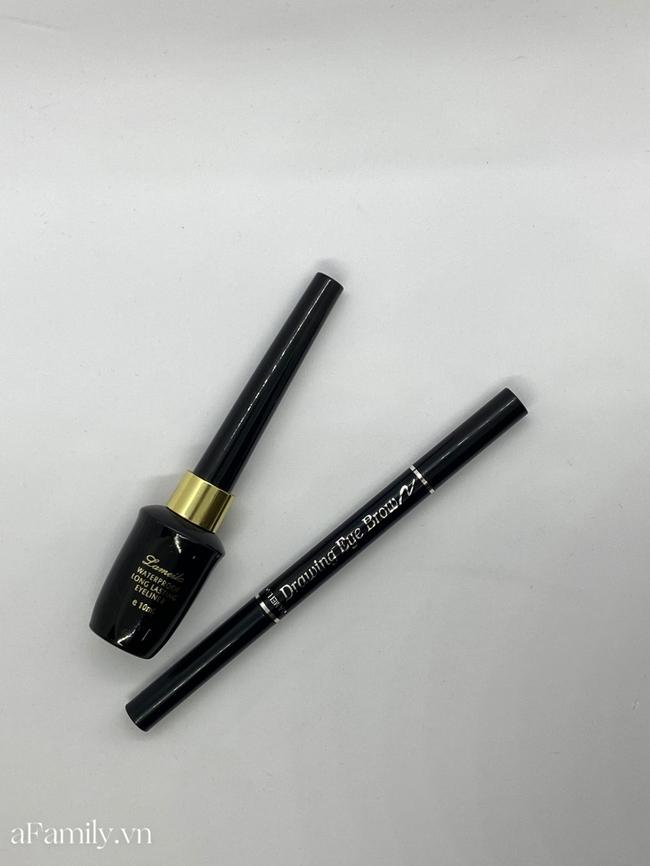 Mua thử bút kẻ mắt và kẻ lông mày giá 10k, tôi bất ngờ vì khả năng bám màu của chiếc eyeliner  - Ảnh 2.
