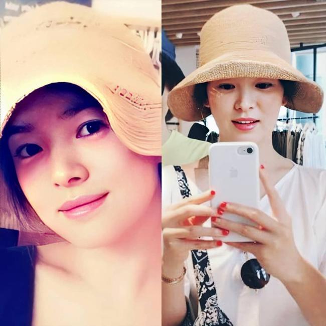 Nhan sắc của Song Hye Kyo xuất chúng đến nỗi cân đẹp mọi kiểu mũ dù sến hay lỗi thời tới đâu - Ảnh 5.