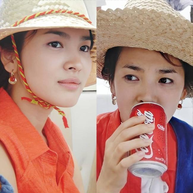 Nhan sắc của Song Hye Kyo xuất chúng đến nỗi cân đẹp mọi kiểu mũ dù sến hay lỗi thời tới đâu - Ảnh 3.