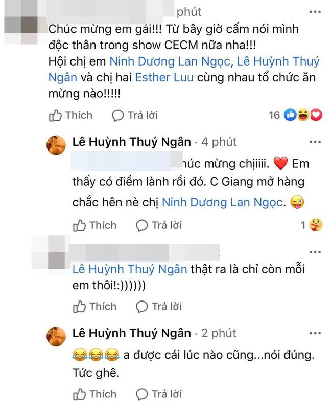 """Chúc mừng Hương Giang nhưng Thúy Ngân lại """"lỡ lời"""" tiết lộ Ninh Dương Lan Ngọc """"đã có chủ"""" - Ảnh 2."""