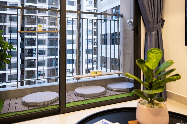 Căn hộ 43m² trang trí với màu sắc tươi sáng có chi phí hoàn thiện 100 triệu đồng ở Hà Nội - Ảnh 4.