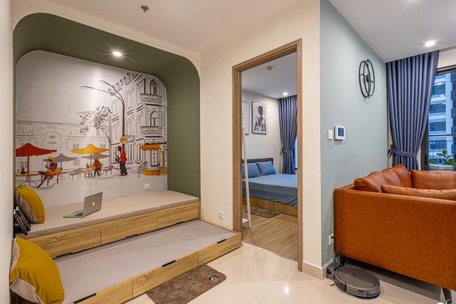 Căn hộ 43m² trang trí với màu sắc tươi sáng có chi phí hoàn thiện 100 triệu đồng ở Hà Nội - Ảnh 6.