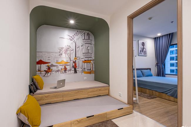 Căn hộ 43m² trang trí với màu sắc tươi sáng có chi phí hoàn thiện 100 triệu đồng ở Hà Nội - Ảnh 8.