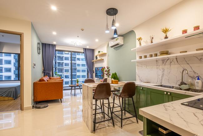 Căn hộ 43m² trang trí với màu sắc tươi sáng có chi phí hoàn thiện 100 triệu đồng ở Hà Nội - Ảnh 9.