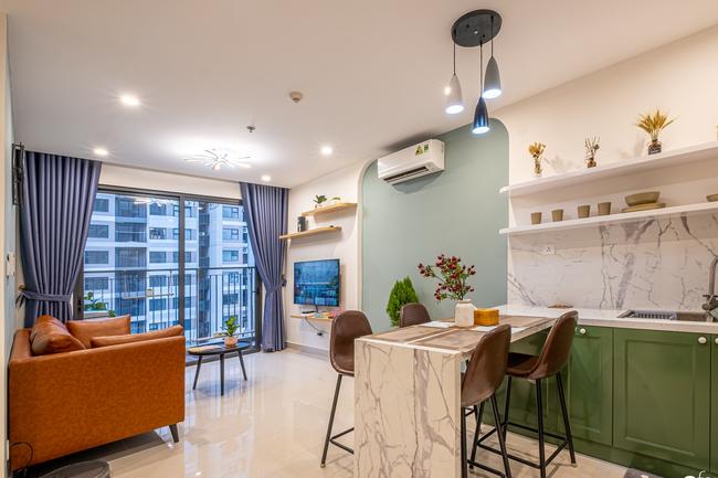 Căn hộ 43m² trang trí với màu sắc tươi sáng có chi phí hoàn thiện 100 triệu đồng ở Hà Nội - Ảnh 10.