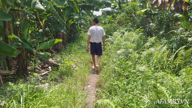 Đối tượng kéo cháu bé từ mặt đường đi vào vườn chuối khoảng 50 mét