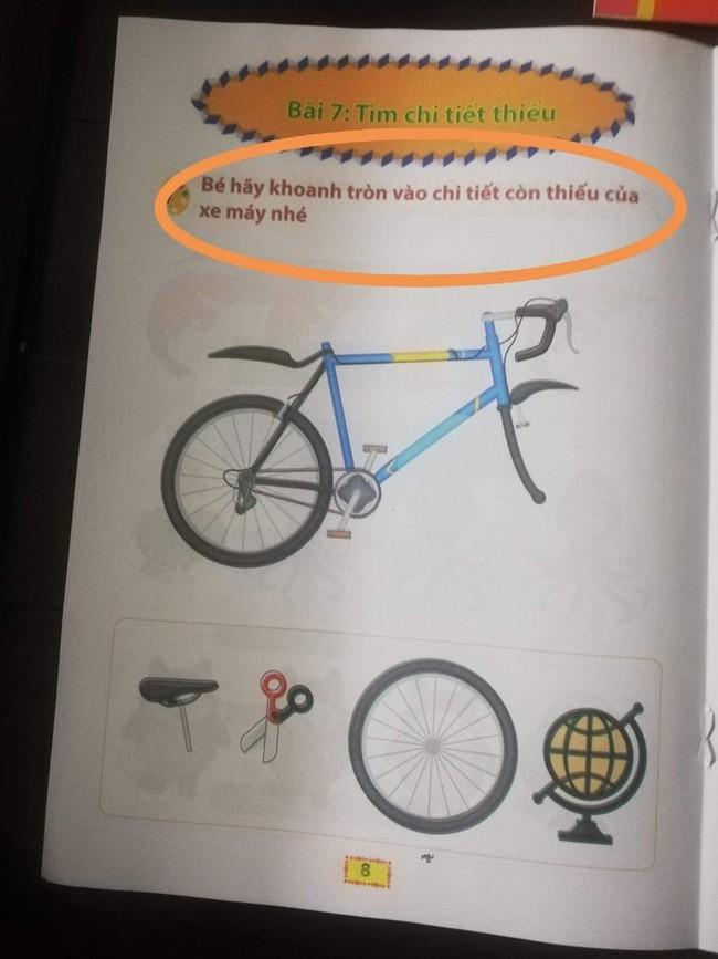 """Phụ huynh choáng váng trước bộ sách sai tùm lùm: """"Con bò"""" thì viết thành """"con bì"""", dạy về xe máy thì cho hẳn xe đạp làm hình minh họa! - Ảnh 9."""