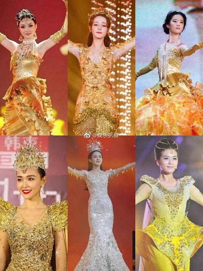 Angelababy mặc áo vàng khác lạ, netizen đồn đoán trở thành Nữ thần Kim Ưng sau Địch Lệ Nhiệt Ba  - Ảnh 4.