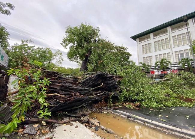 Các địa phương sau bão số 5: Nhiều nhà dân đổ sập hoàn toàn, hàng loạt xế hộp hư hỏng nặng - Ảnh 6.