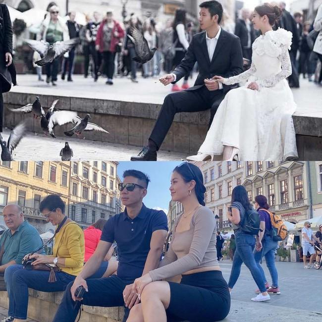 """Diễm Trang viết: """"Quay lại nơi chụp ảnh cưới của nhà em ngày xưa, giờ lồi thêm cục thúi""""."""
