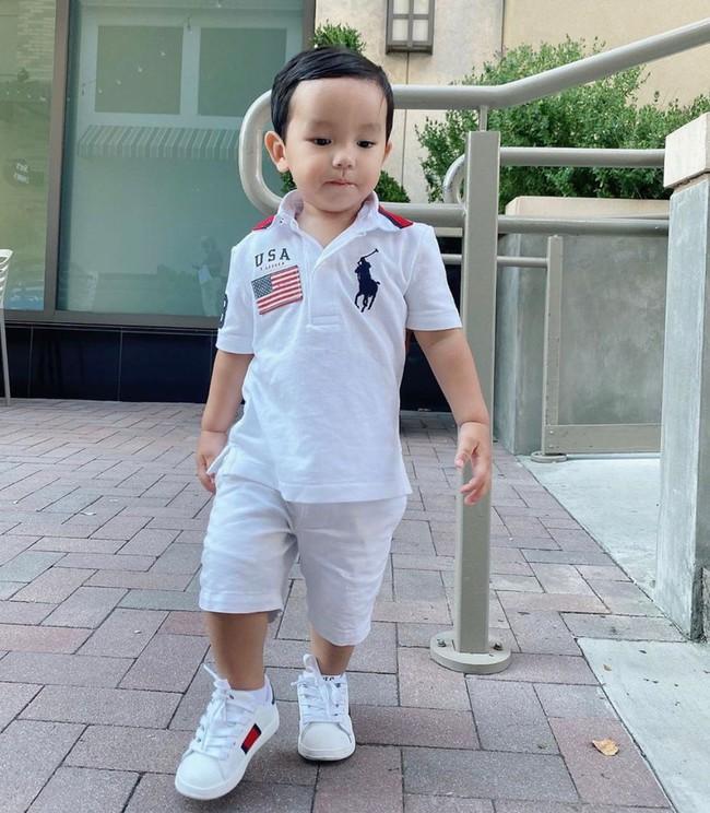 """Mới đó mà con trai Phạm Hương đã lớn cỡ này, nhìn cậu ấm ai cũng ngưỡng mộ cách nuôi con của """"Hoa hậu quốc dân"""" - Ảnh 5."""
