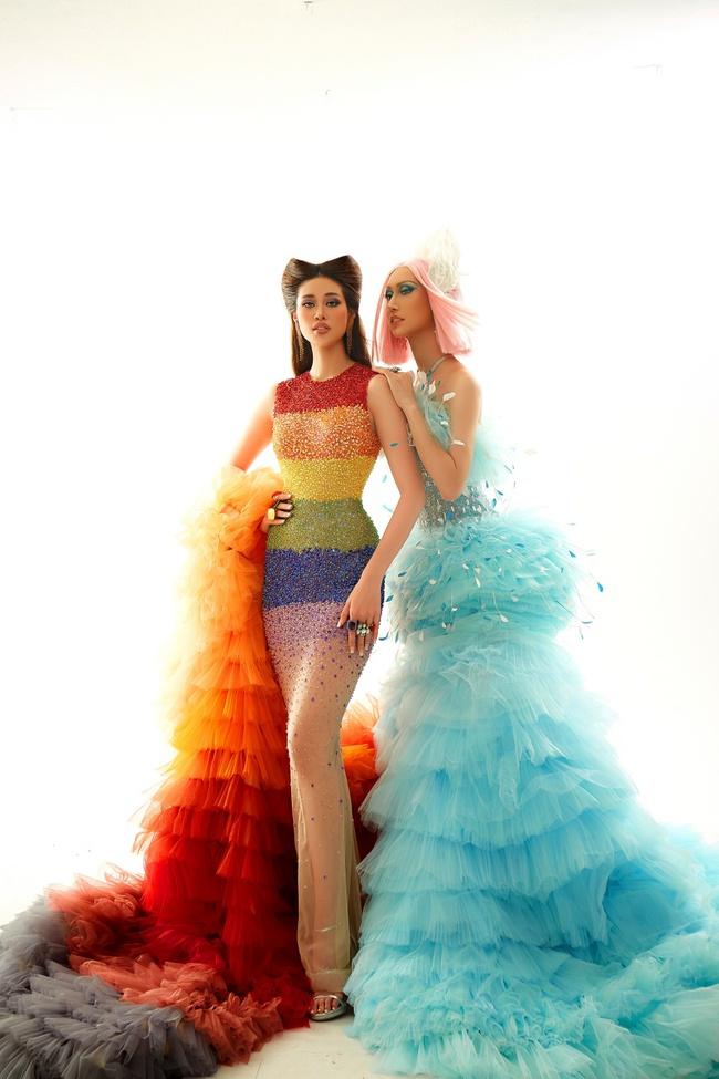 """Hoa hậu Khánh Vân gây ấn tượng khi hóa thân thành """"drag queen"""" cùng Lynk Lee dành tặng cộng đồng LGBTQ+ - Ảnh 4."""