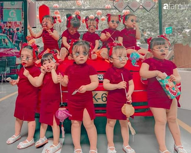 """Biệt đội """"nhà đông con"""" ở Sài Gòn đi đâu cũng rực rỡ, xuất hiện chỗ nào là gây náo loạn chỗ đó"""