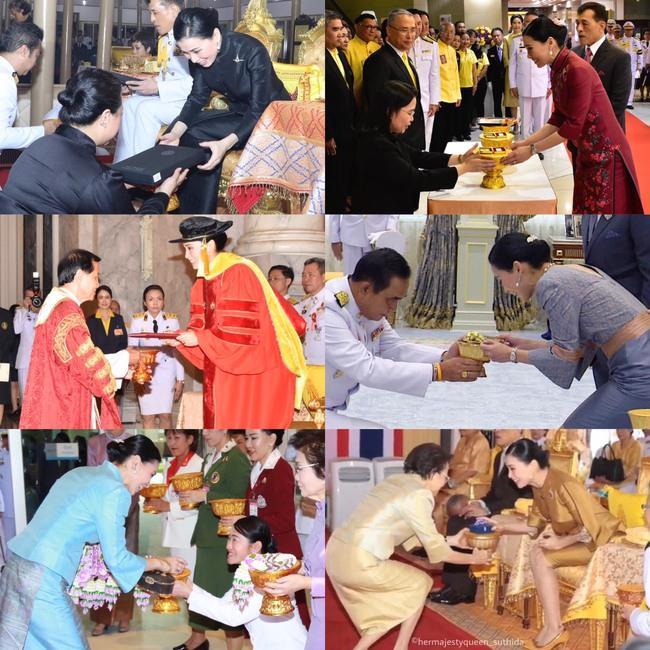 Hoàng hậu Thái Lan lần đầu xuất hiện sau khi Hoàng quý phi được phục vị, gây chú ý với vẻ ngoại hình cùng biểu cảm đặc biệt - Ảnh 2.