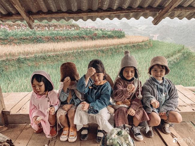 """Bộ ảnh """"nhà có 5 nàng tiên"""" rủ nhau lên Mù Cang Chải đẹp như tranh khiến người lớn cũng phải mê mệt - Ảnh 14."""