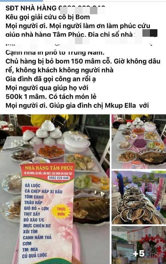 """Một nhà hàng ở Điện Biên bị khách quen """"bom"""" 150 mâm cỗ cưới trị giá gần 200 triệu, cộng đồng mạng kêu gọi """"giải cứu"""" 500 nghìn/mâm - Ảnh 1."""