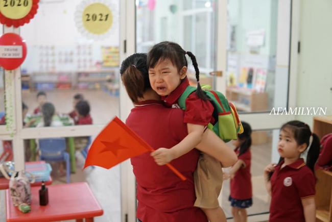 """Loạt ảnh không thể bỏ qua ngày khai giảng: Học sinh mầm non """"cưng muốn xỉu"""", vừa đến trường đã gào khóc đòi về - Ảnh 12."""