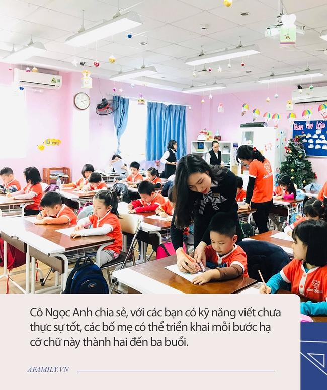 Áp dụng đúng 5 bước hạ cỡ chữ từ dễ đến khó của cô giáo tiểu học này, bảo đảm các con sẽ viết chữ nhỏ siêu đẹp - Ảnh 1.
