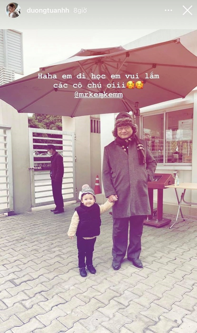 Con trai Dương Tú Anh cực đáng yêu trong ngày đầu đi học nhưng biểu cảm lúc về nhà mới bất ngờ - Ảnh 2.