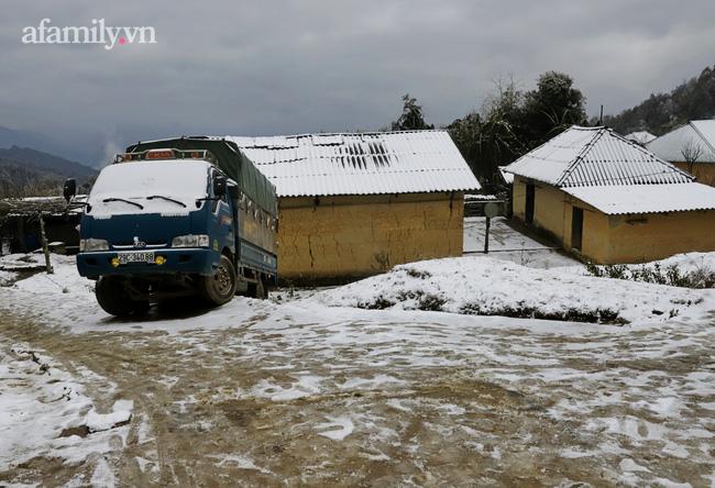 Sững sờ trước khung cảnh tuyết rơi phủ trắng đỉnh đồi Y Tý, du khách thích thú check in giữa trời trắng xóa - Ảnh 8.