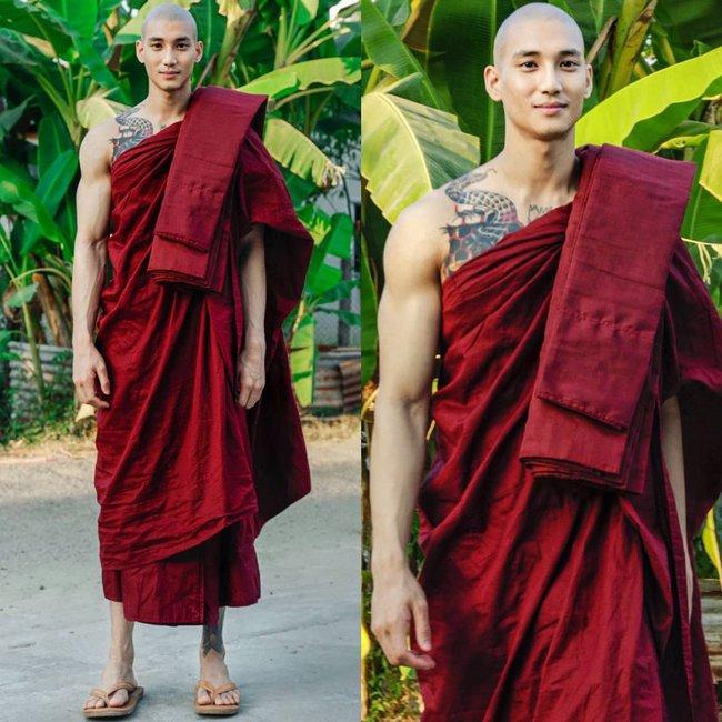 """""""Profile cực xịn"""" của chàng mẫu """"thầy tu"""" người Myanmar: Con trai nhà tài phiệt, sở hữu body gợi cảm, từng công khai thả thính mỹ nhân """"Chiếc Lá Bay"""" Baifern Pimchanok - Ảnh 1."""