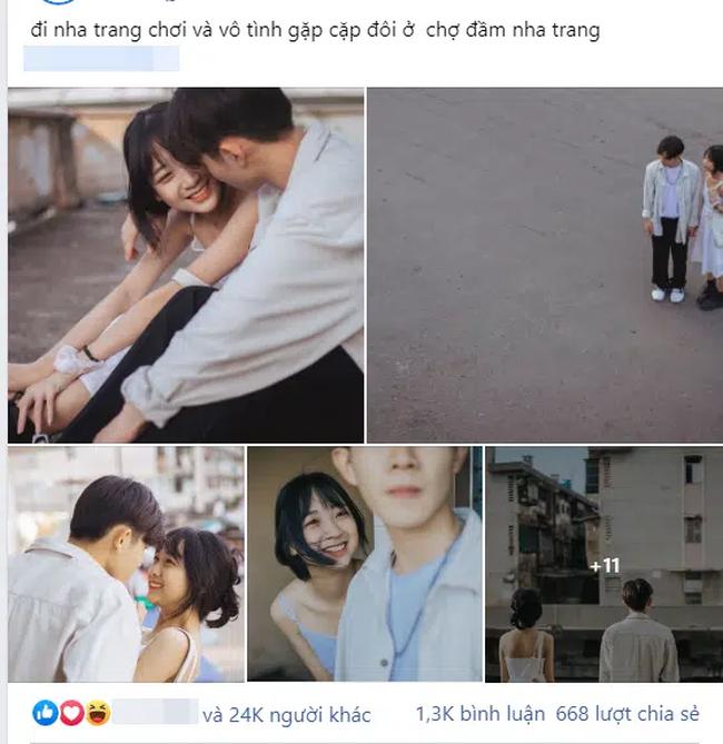 """Câu chuyện về bộ ảnh tình yêu đón nhận 24 nghìn like: Cặp đôi đang """"tình cảm"""" giữa chợ thì bị mẹ vác chổi đuổi đánh gây bão mạng xã hội! - Ảnh 1."""