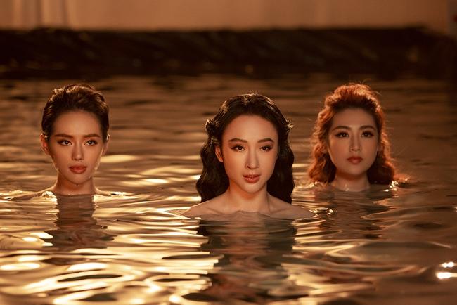 """Á hậu Tú Anh, Angela Phương Trinh và """"cô em trendy"""" Khánh Linh bất ngờ rủ nhau tung ảnh bán nude  - Ảnh 1."""
