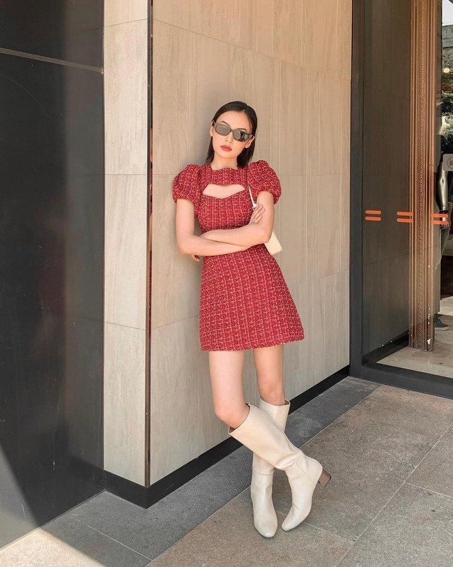 """10 mẫu váy đỏ rất sang chứ không hề chóe của các shop thời trang Việt, sắm ngay để năm mới """"đỏ thôi đen quên đi"""" - Ảnh 1."""