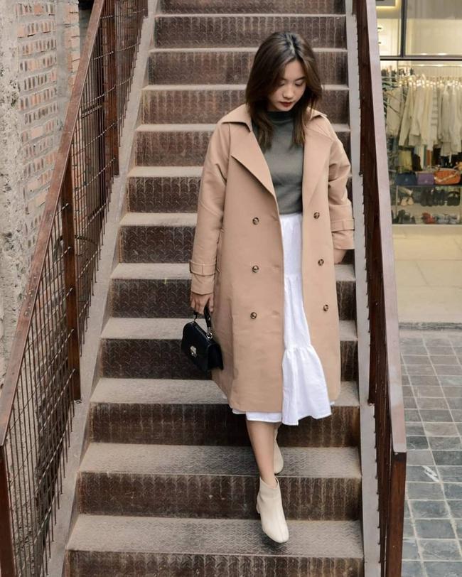 10 mẫu trench coat từ 450k, chị em sắm ngay để Tết Tân Sửu trời lạnh hay không cũng mặc đẹp hết ý - Ảnh 3.