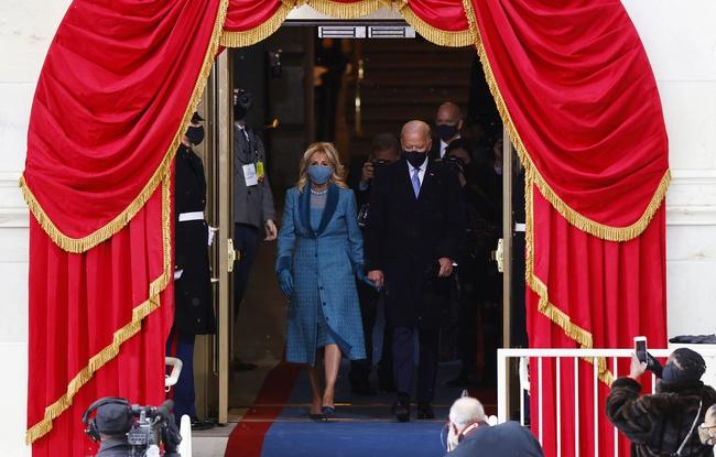 Ông Joe Biden đến tòa nhà Quốc hội chuẩn bị cho lễ nhậm chức, đăng Twitter ca ngợi vợ trước giờ phút quan trọng - Ảnh 8.
