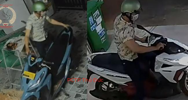 """Thanh niên trộm 2 xe máy trong vài """"nốt nhạc"""", camera bóc trần cảnh tượng không tưởng - Ảnh 2."""