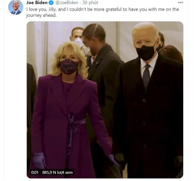 Ông Joe Biden đến tòa nhà Quốc hội chuẩn bị cho lễ nhậm chức, đăng Twitter ca ngợi vợ trước giờ phút quan trọng - Ảnh 3.