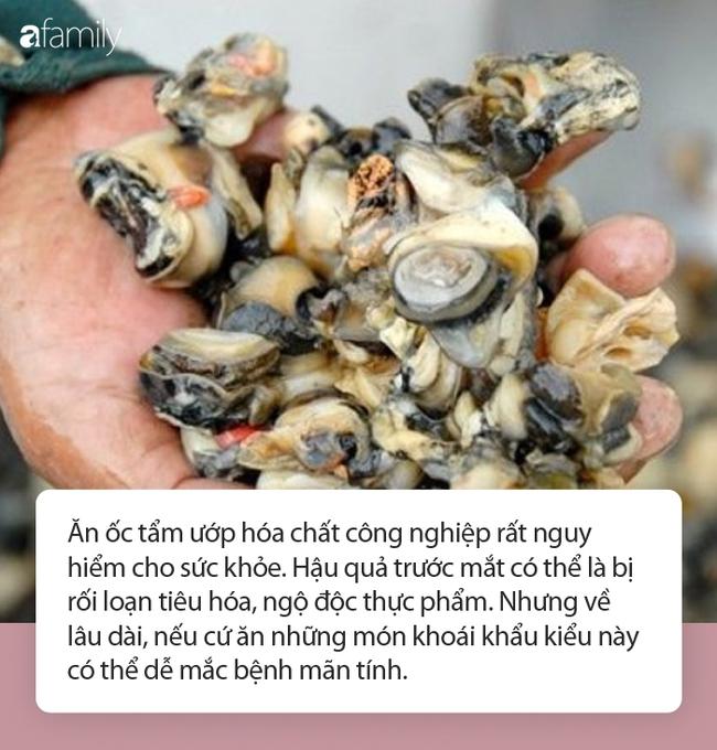 Cận Tết, thịt ốc ngâm hóa chất bị phanh phui: Chuyên gia khuyến cáo những lưu ý khi ăn ốc cuối năm - Ảnh 3.