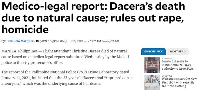 Công bố báo cáo pháp y chính thức về nguyên nhân gây ra cái chết của Á hậu Philippines sau gần 1 tháng tạo ra nhiều khúc mắc - Ảnh 2.