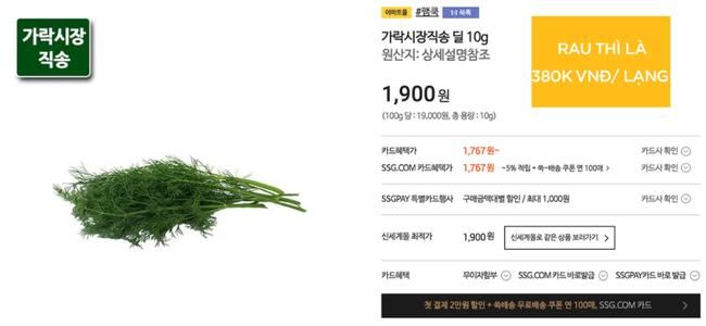 Biết là rau Việt Nam ở nước ngoài không rẻ, nhưng 80k chỉ mua được vài cây sả như ở Hàn thì hội chị em mê thịt xiên nướng sẽ phát khóc mất thôi! - Ảnh 7.