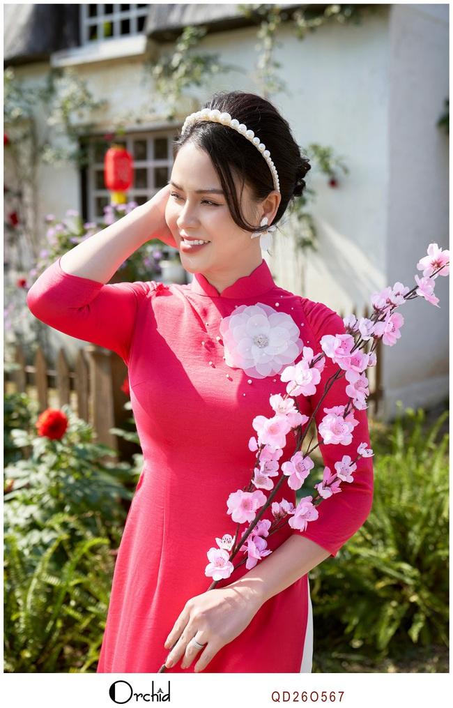 Tôn vinh dáng xinh với BST áo dài Tết của Orchid - Ảnh 6.