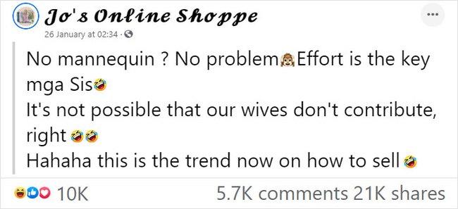 """Vợ lợi dụng chồng ngủ để bắt làm người mẫu, mặc từ váy đầm đến croptop để đăng bán online rồi viral khắp """"cõi mạng"""" - Ảnh 1."""