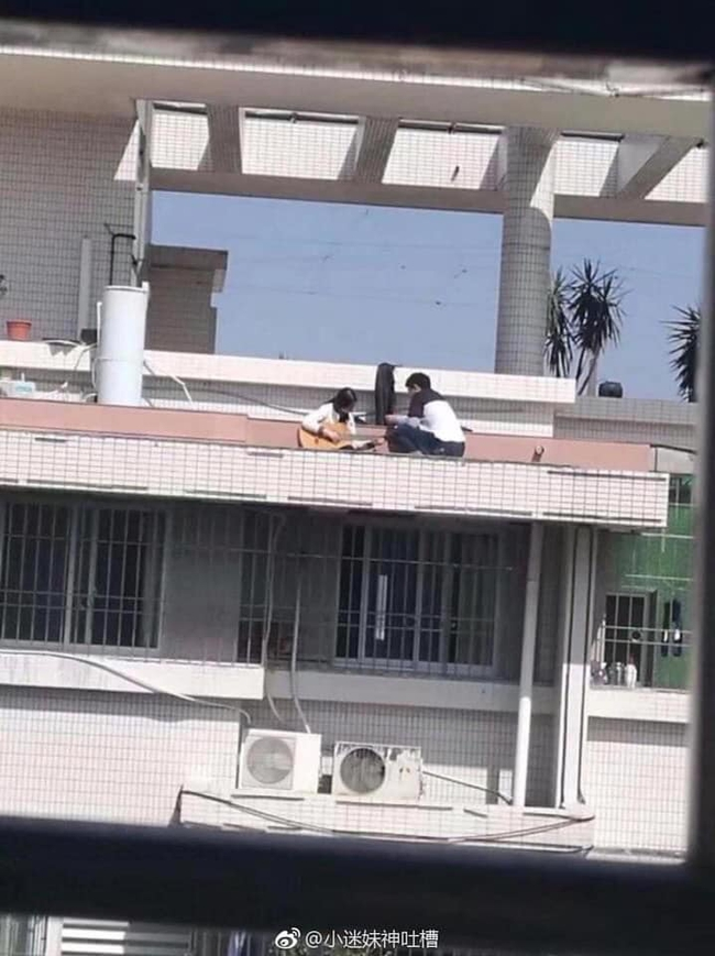 Đang đàn hát trên sân thượng, cặp đôi quay sang làm hành động 18+ ngay giữa ban ngày khiến ai cũng phải sốc! - Ảnh 1.