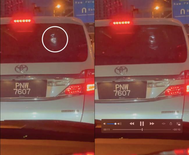 Ám ảnh gương mặt trắng toát xuất hiện đằng sau xe ô tô giữa đêm, sự thật đằng sau gây phẫn nộ - Ảnh 2.