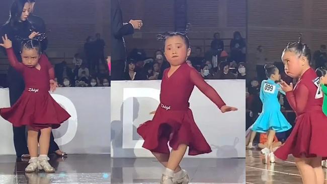 """Bé gái 6 tuổi khiêu vũ Latin """"thần sầu"""", thần thái và biểu cảm của cô bé mới khiến người xem """"rụng tim"""" vì quá ngộ nghĩnh, đáng  yêu. - Ảnh 2."""