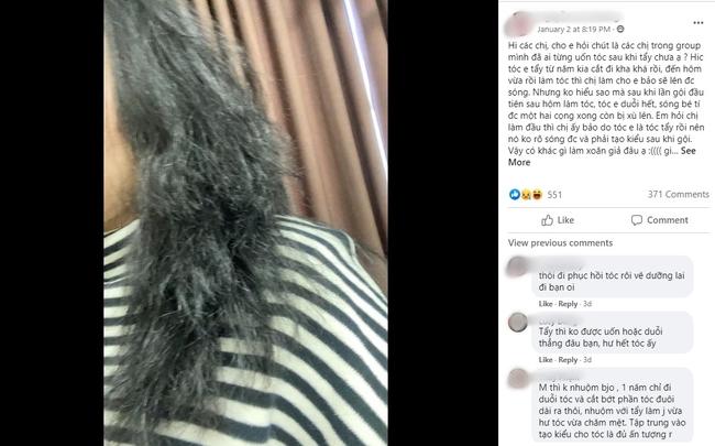 Cô nàng đăng ảnh tóc xơ xác như chổi xể, hội chị em đồng loạt chê thợ làm tóc không có tâm và khuyên làm điều này để nhanh phục hồi - Ảnh 3.
