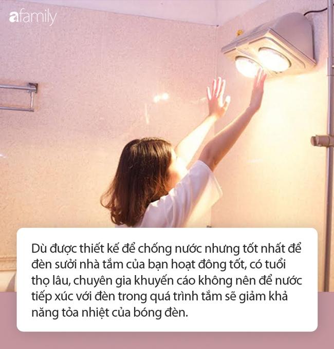 Muốn dùng đèn sưởi nhà tắm vào ngày rét đậm nhưng lại sợ cháy nổ, điện giật: Chuyên gia khuyến cáo cần ghi nhớ  - Ảnh 2.
