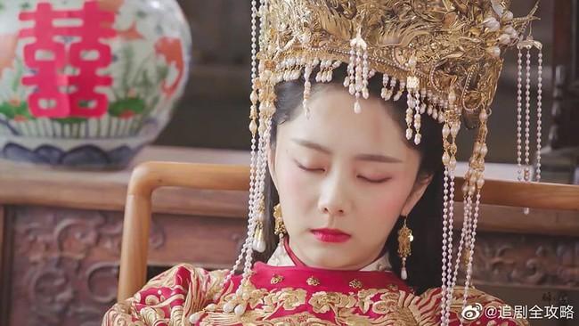 Đàm Tùng Vận mặc áo cưới đỏ rực, làm vợ Chung Hán Lương trong Cẩm tâm tựa ngọc chưa xinh đẹp bằng lúc này  - Ảnh 7.