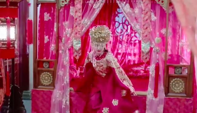 Đàm Tùng Vận mặc áo cưới đỏ rực, làm vợ Chung Hán Lương trong Cẩm tâm tựa ngọc chưa xinh đẹp bằng lúc này  - Ảnh 6.
