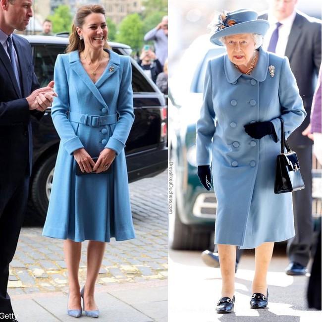 Nhìn những lần Công nương Kate diện đồ hao hao Nữ hoàng Anh, dân tình khen cô đã rất ra dáng Hoàng hậu tương lai - Ảnh 2.