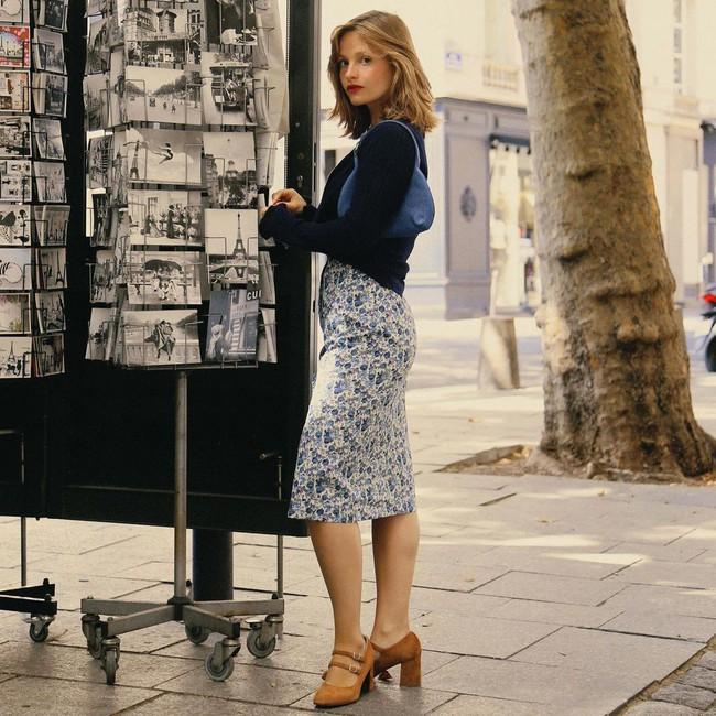 Cách diện chân váy dài gái Pháp - Ảnh 6.